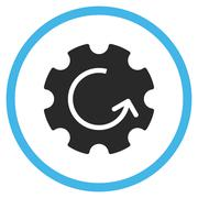 Gear Rotation Flat Rounded Vector Icon Stock Illustration