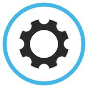 Gear Flat Rounded Vector Icon - stock illustration