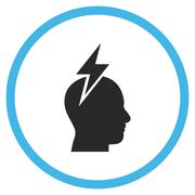 Headache Flat Rounded Vector Icon Stock Illustration