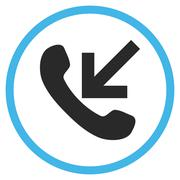 Incoming Call Flat Rounded Vector Icon - stock illustration