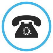 Pulse Phone Flat Rounded Vector Icon - stock illustration