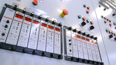 New modern industry control panel with buttons, sensors and switches. Shoot with Stock Footage