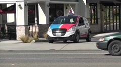 Domino's DXP Pizza Delivery Vehicle Stock Footage