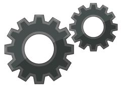 Gears on white background Stock Illustration