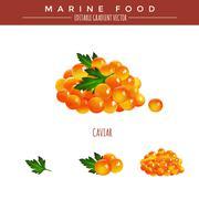 Red Caviar. Marine Food - stock illustration