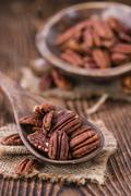 Pecan Nuts - stock photo