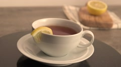 Lemon Tea. Stock Footage