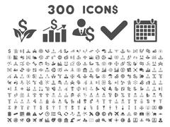 Stock Illustration of 300 Flat Vector Business Icons