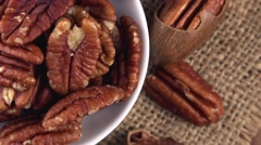 Portion of Pecan Nuts (not loopable 4K footage) Stock Footage