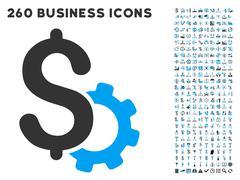 Stock Illustration of Development Price Icon with Flat Vector Set