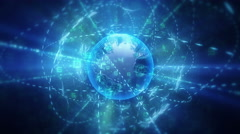 Global communication in cyberspace. - stock footage