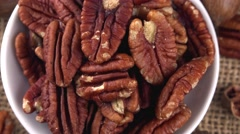 Pecan Nuts (not loopable 4K footage) Stock Footage