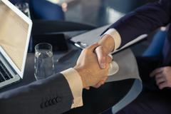 Two business partners had a deal - stock photo