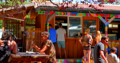 Stock Video Footage of 4K Ice Cream Shop, Ringside Market, Co-Op Hornby Island, BC