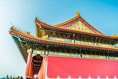 Gate of Heavenly Peace - entrance to the Palace Museum in Beijin Stock Photos