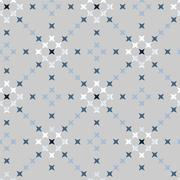 Seamless Abstract Cross Stitch Embroidery Pattern - stock illustration