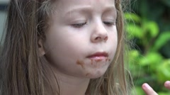 Toddler Girl With Dirty Face Stock Footage
