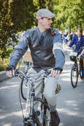 Toronto, Canada - September 20, 2014: Unidentified participants of Tweed Ride - stock photo