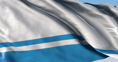 Ultra realistic looping flag: Altay - stock footage
