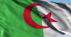 Ultra realistic looping flag: Algeria Stock Footage