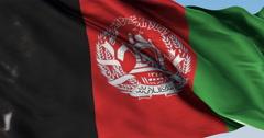 Ultra realistic looping flag: Afghanistan - stock footage