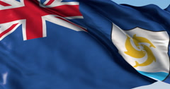 Ultra realistic looping flag: Anguilla - stock footage