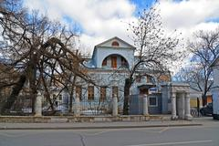 Urban manor XVIII-XIX centuries in Tokmakov Lane in Moscow, Russia - stock photo