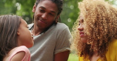 Sweet African-American family spending quality time Stock Footage