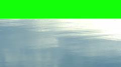 Water surface with green screen on top Stock Footage