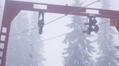Part of ski lift winter Stock Footage