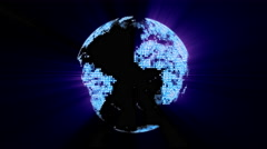 Loopable: Digital Globe / Digital World / Technology Abstract Stock Footage