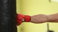 Man boxing on pear Stock Footage