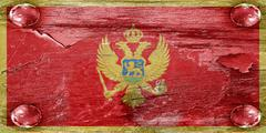 Montenegro flag Stock Illustration