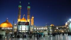 Shrine of Fatima Almasomh in Qom, Iran - stock footage