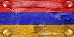 Armenia flag - stock illustration