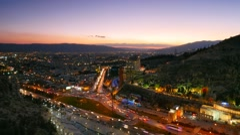 Night view of Shiraz, Iran.   Timelapse - stock footage