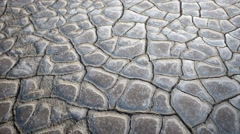 Dried and cracked earth background Stock Footage