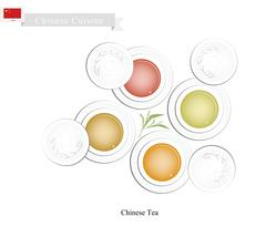 Chinese Traditional Tea Set, Popular Dink in China - stock illustration