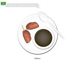 Ghava or Traditional Arabic Coffee, Popular Dink in Saudi Arabia Piirros