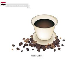 Traditional Arabic Coffee, Popular Dink in Syria Stock Illustration