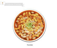 Fasolada or Traditional Cypriot White Bean Soup Stock Illustration