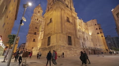 Malaga Pedestrian Zone Stock Footage