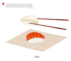 Traditional Japanese Nigiri, A Popular Dish in Japan Piirros