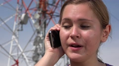 Cell Phone With Poor Reception Stock Footage