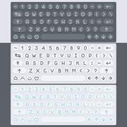 Vector flat modern keyboard, alphabet buttons. Material design - stock illustration
