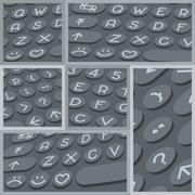 Vector flat modern keyboard, alphabet buttons. Material design Stock Illustration