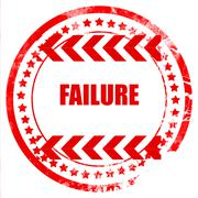 Failure sign with some smooth lines Stock Illustration