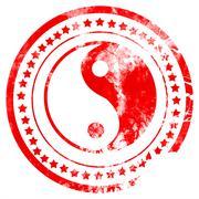Ying yang symbol - stock illustration