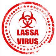 Lassa virus concept background - stock illustration