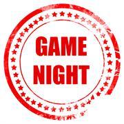 Game night sign - stock illustration